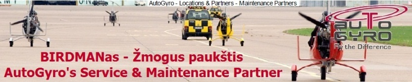 AutoGyro Service and Technical maintenance Partner Lithuania